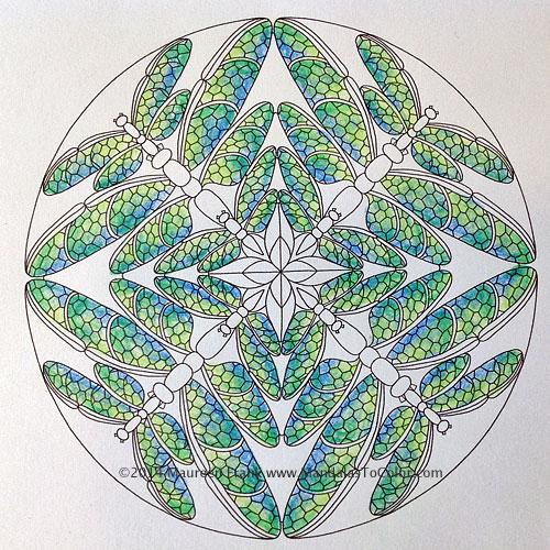 Dragonflies Mandala Art Progressions