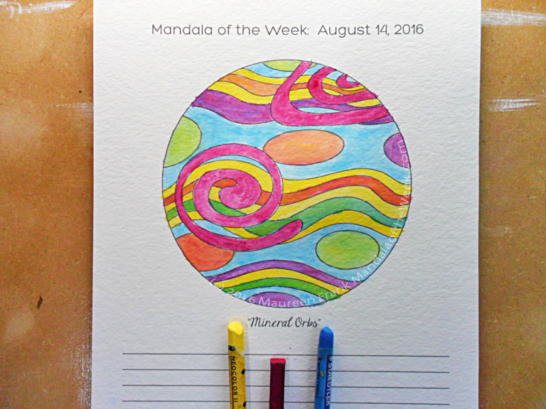 20160818 - Mineral Orbs Mandala - 06
