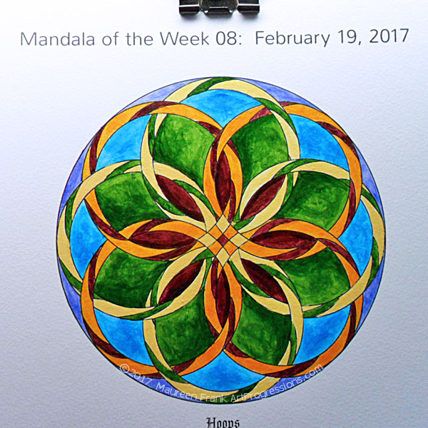 "MotW 2017-08: 10 - (""petal"" shading) Permanent Maroon, Sap Green"